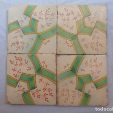 Antigüedades: CUATRO AZULEJOS.VALENCIA.SIGLO XIX.REFª9. Lote 74880487