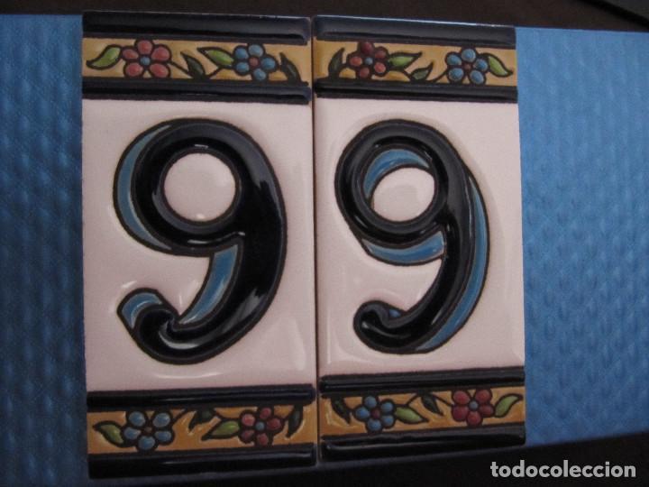 Antigüedades: NUMERO AZULEJO BALDOSINES DE CASA VIVIENDA made in España - Foto 3 - 75699343