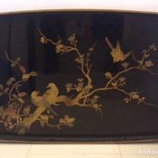 Antigüedades: BANDEJA ANTIGUA LACADA CHINA, PRINCIPIOS S XX. Lote 75705086