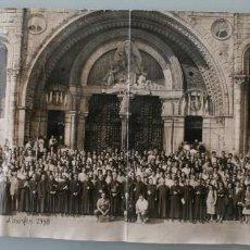 Antigüedades: FOTOGRAFIA NUMERADA CON MEDALLA: PEREGRINACIÓN DIOCESANA MALAGA LOURDES 1958 VER FOTOGRAFIAS - VIRON. Lote 75705115