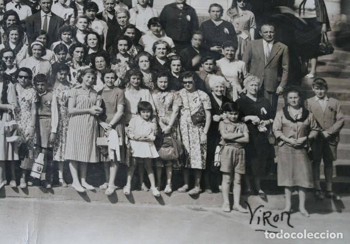 Antigüedades: FOTOGRAFIA NUMERADA CON MEDALLA: PEREGRINACIÓN DIOCESANA MALAGA LOURDES 1958 VER FOTOGRAFIAS - VIRON - Foto 5 - 75705115