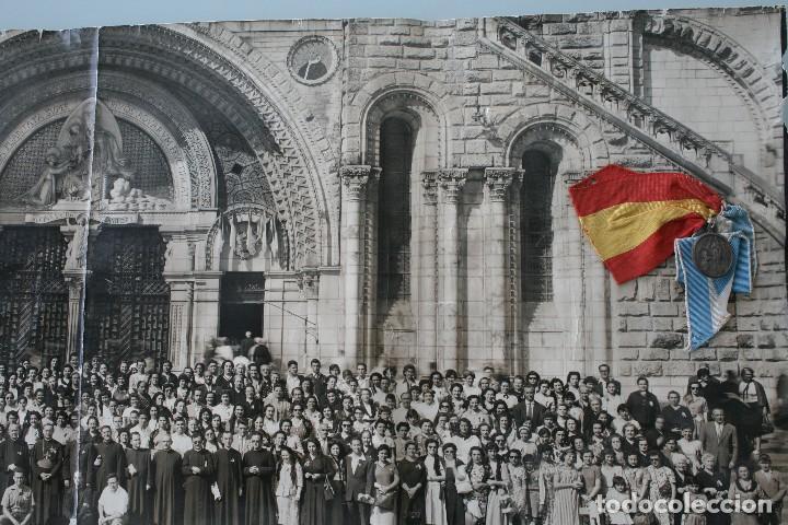 Antigüedades: FOTOGRAFIA NUMERADA CON MEDALLA: PEREGRINACIÓN DIOCESANA MALAGA LOURDES 1958 VER FOTOGRAFIAS - VIRON - Foto 13 - 75705115