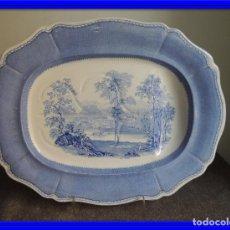 Antigüedades: ANTIGUA FUENTE DE PORCELANA FIRMADA DAVENPORT CIRCA 1887. Lote 75706667