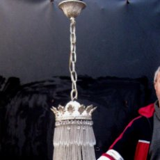 Antigüedades: BESTIAL LAMPARA VIP ANTIGUA 175CM CRISTAL BACCARAT FRANCIA SACO IMPERIO 1940 GRAN HOTEL TIENDA. Lote 75734619