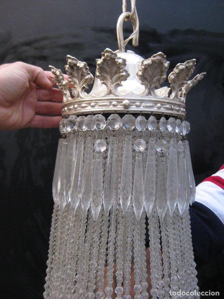Antigüedades: BESTIAL LAMPARA VIP ANTIGUA 175CM CRISTAL BACCARAT FRANCIA SACO IMPERIO 1940 GRAN HOTEL TIENDA - Foto 4 - 75734619