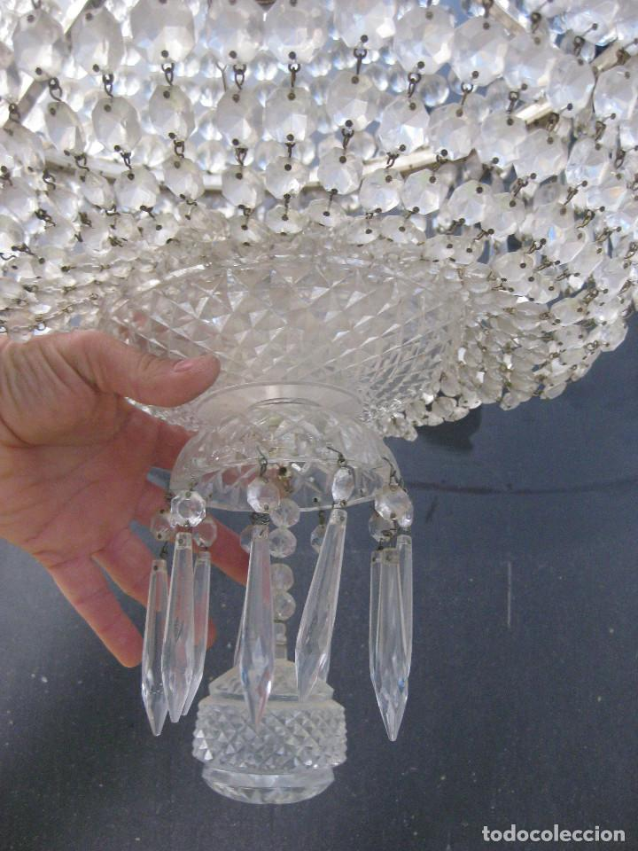 Antigüedades: LAMPARA VIP ANTIGUA 175CM CRISTAL BACCARAT FRANCIA SACO IMPERIO GRAN HOTEL TIENDA - Foto 5 - 75734619