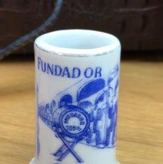 Antigüedades: ANTIGUO PALILLERO DE LOZA O PORCELANA - BRANDY FUNDADOR Y FINO LA INA - DOMECQ. Lote 75741315