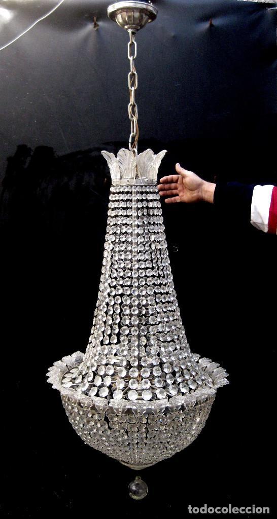 Antigüedades: BESTIAL LAMPARA VIP ANTIGUA 165CM CRISTAL DE BACCARAT ESTILO SACO IMPERIO 1940 GRAN HOTEL TIENDA - Foto 3 - 75745743