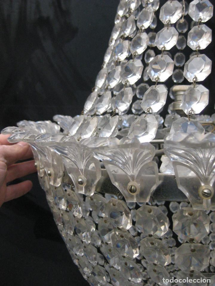 Antigüedades: BESTIAL LAMPARA VIP ANTIGUA 165CM CRISTAL DE BACCARAT ESTILO SACO IMPERIO 1940 GRAN HOTEL TIENDA - Foto 4 - 75745743