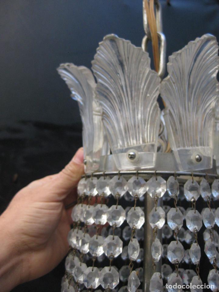 Antigüedades: BESTIAL LAMPARA VIP ANTIGUA 165CM CRISTAL DE BACCARAT ESTILO SACO IMPERIO 1940 GRAN HOTEL TIENDA - Foto 5 - 75745743