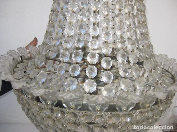 Antigüedades: BESTIAL LAMPARA VIP ANTIGUA 165CM CRISTAL DE BACCARAT ESTILO SACO IMPERIO 1940 GRAN HOTEL TIENDA - Foto 6 - 75745743