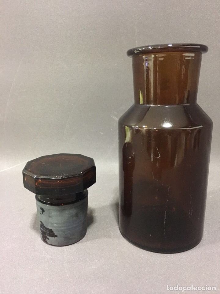 Antigüedades: Frasco ,bote antiguo de farmacia - Foto 2 - 75826347