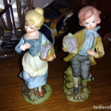 Antigüedades: PAREJA FIGURAS DE BISCUIT JAPONES. Lote 75837123