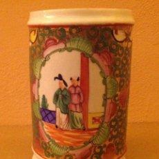 Antigüedades: BOTE/ALBARELO, EN PORCELANA CHINA DE CANTÓN, S. XIX. Lote 75838827