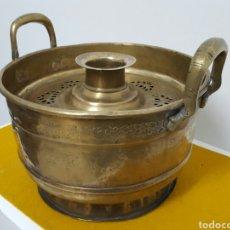 Antigüedades: BRASERO O CALENTADOR PARA EL TÉ.. Lote 75859486