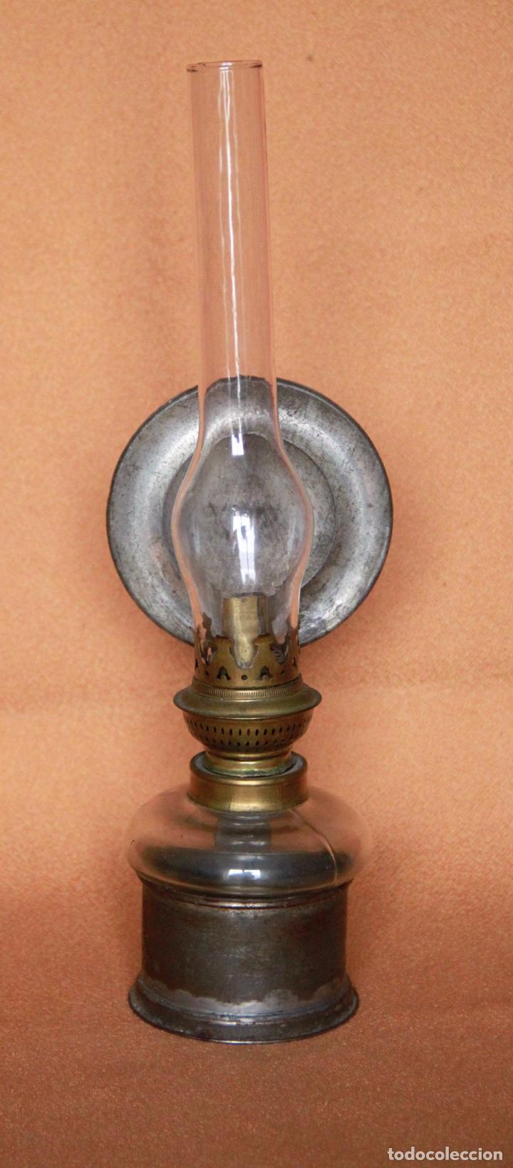 QUINQUE - LAMPARA DE ACEITE O PETROLEO (Antigüedades - Iluminación - Quinqués Antiguos)