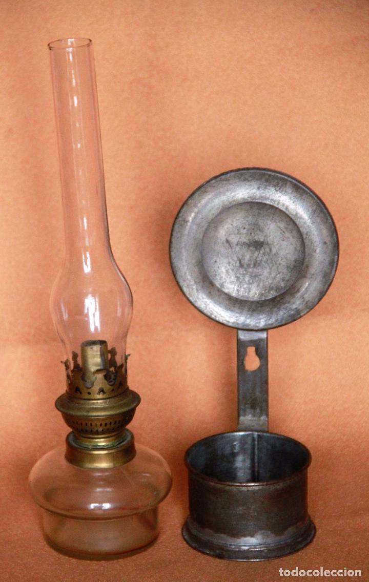 Antigüedades: QUINQUE - LAMPARA DE ACEITE O PETROLEO - Foto 2 - 75868219