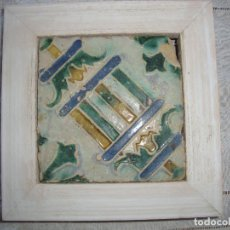 Antigüedades: AZULEJO SIGLO XVI DE MUEL. Lote 75881959