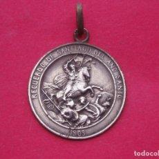 Antigüedades: MEDALLA EN PLATA AÑO SANTO SANTIAGO DE COMPOSTELA 1909. Lote 75904635