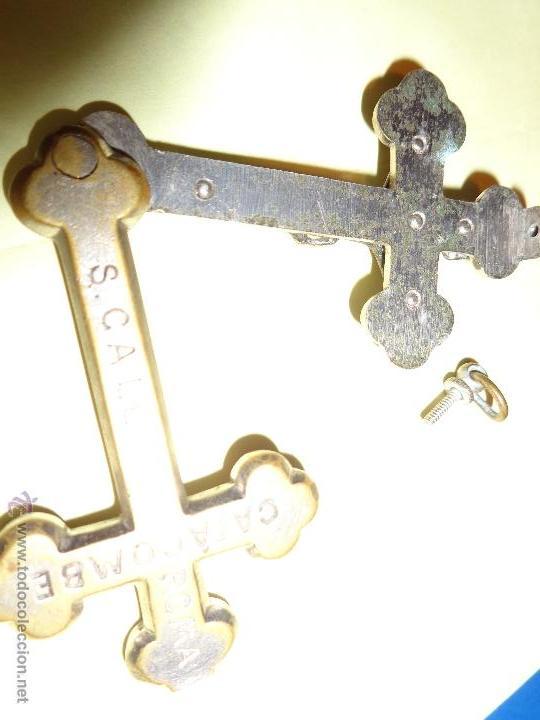 Antigüedades: PRECIOSA CRUZ DE CATACOMBE, CALLISTO, ROMA, ANTIGUA Y BIEN CONSERVADA - Foto 5 - 55096514