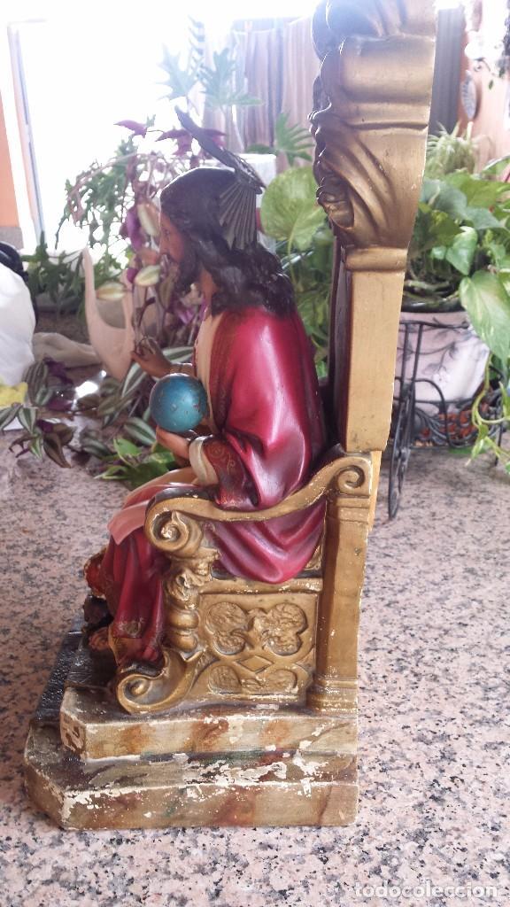 Antigüedades: antiguo imagen del sagrado corazon , imageneria castellana , fernandez de la hita , madrid - Foto 5 - 75933787