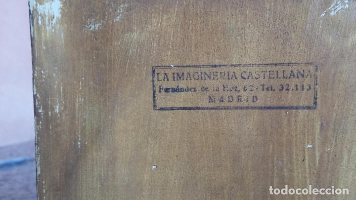 Antigüedades: antiguo imagen del sagrado corazon , imageneria castellana , fernandez de la hita , madrid - Foto 7 - 75933787