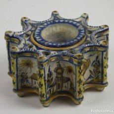 Antigüedades: TINTERO. CERÁMICA DE TALAVERA. SIGLO XIX-XX. Lote 43560166