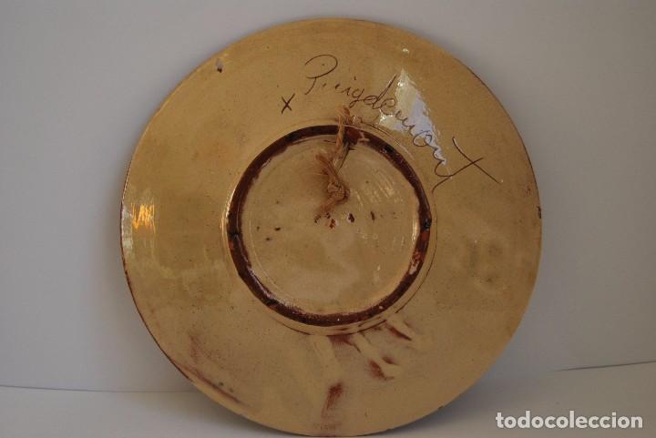 Antigüedades: PLATO DE CERÁMICA DE LA BISBAL - PEZ - FIRMADO PUIGDEMONT - Foto 3 - 173774455