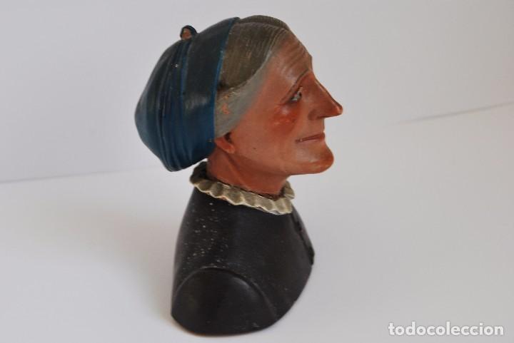 Antigüedades: CAMPESINA DE TERRACOTA - TIPO BUXÓ - OLOT - CIRCA 1900 - FIGURA DE BARRO - Foto 2 - 75959059