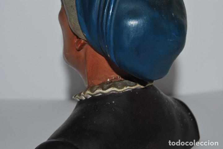 Antigüedades: CAMPESINA DE TERRACOTA - TIPO BUXÓ - OLOT - CIRCA 1900 - FIGURA DE BARRO - Foto 9 - 75959059