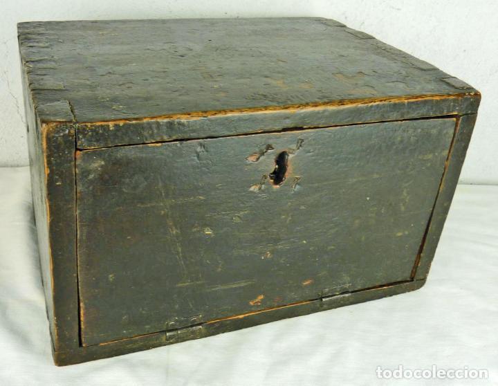 Antigüedades: Pequeño escritorio o secreter de sobremesa de finales del siglo XIX o principios del XX - Foto 2 - 75973671