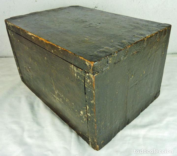 Antigüedades: Pequeño escritorio o secreter de sobremesa de finales del siglo XIX o principios del XX - Foto 5 - 75973671
