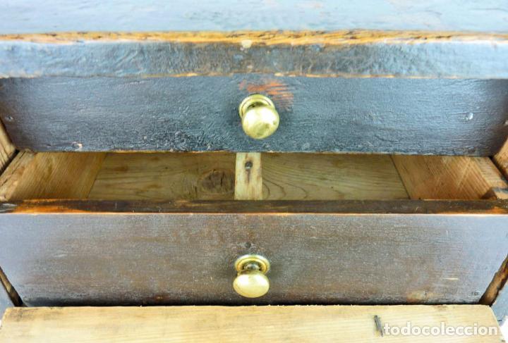 Antigüedades: Pequeño escritorio o secreter de sobremesa de finales del siglo XIX o principios del XX - Foto 8 - 75973671