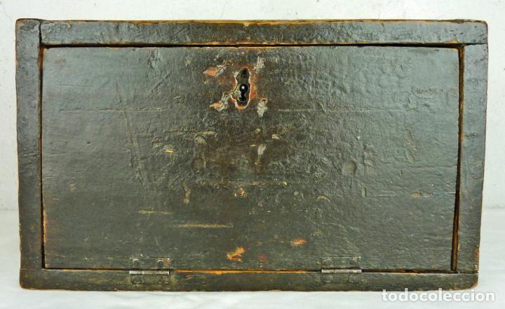 Antigüedades: Pequeño escritorio o secreter de sobremesa de finales del siglo XIX o principios del XX - Foto 9 - 75973671
