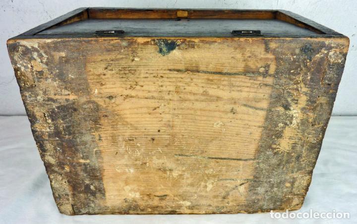 Antigüedades: Pequeño escritorio o secreter de sobremesa de finales del siglo XIX o principios del XX - Foto 13 - 75973671