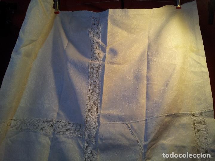 Antigüedades: colcha cubrecama damasco damasquinada brocado brocada 2,50 x 1,70---impecable !!!! - Foto 9 - 75975247