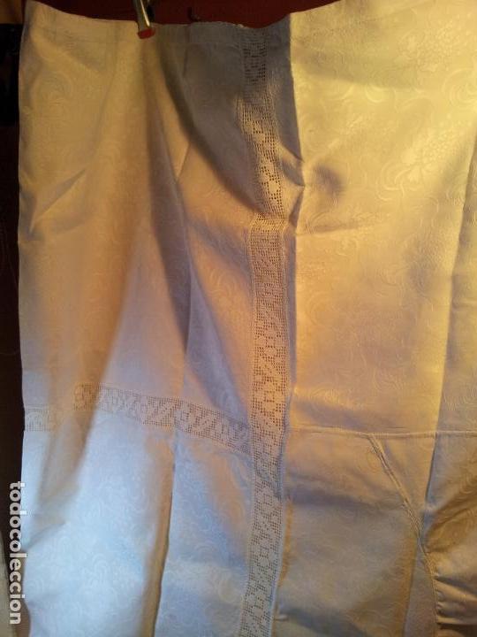 Antigüedades: colcha cubrecama damasco damasquinada brocado brocada 2,50 x 1,70---impecable !!!! - Foto 10 - 75975247
