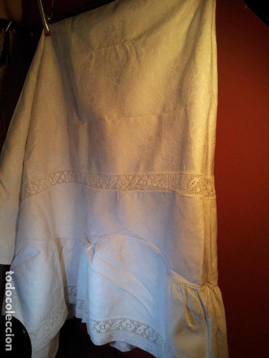 Antigüedades: colcha cubrecama damasco damasquinada brocado brocada 2,50 x 1,70---impecable !!!! - Foto 12 - 75975247