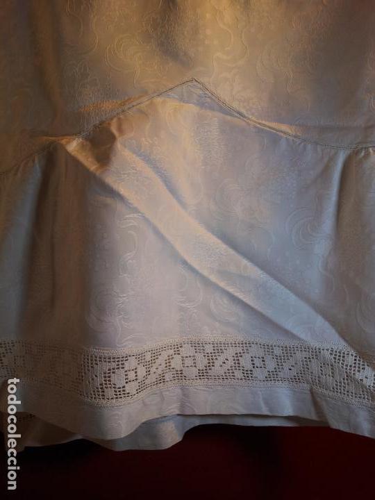 Antigüedades: colcha cubrecama damasco damasquinada brocado brocada 2,50 x 1,70---impecable !!!! - Foto 13 - 75975247