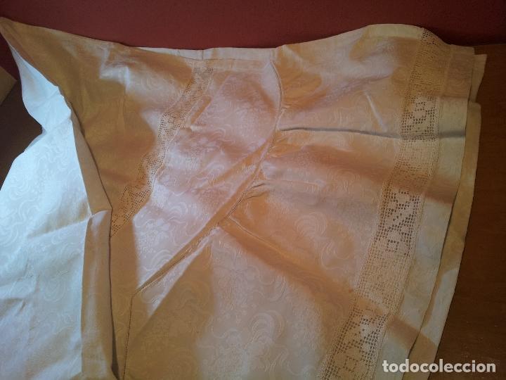 Antigüedades: colcha cubrecama damasco damasquinada brocado brocada 2,50 x 1,70---impecable !!!! - Foto 19 - 75975247