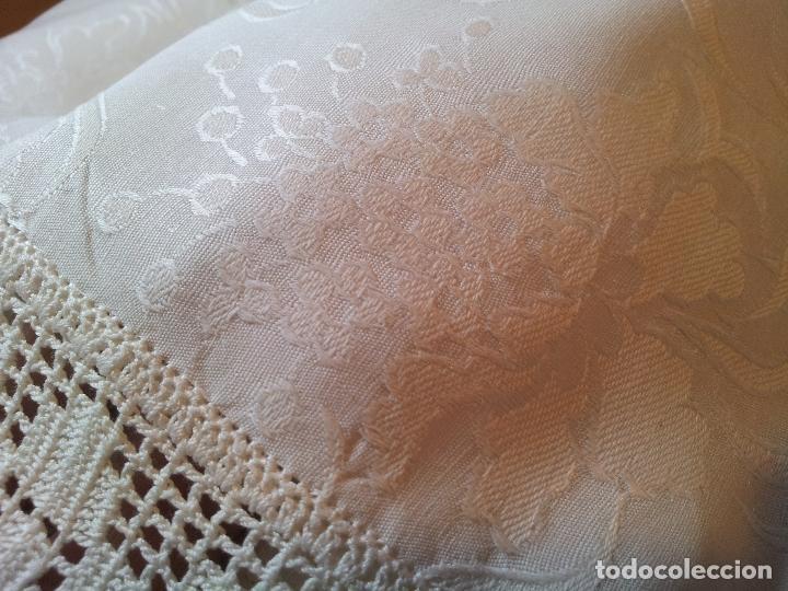 Antigüedades: colcha cubrecama damasco damasquinada brocado brocada 2,50 x 1,70---impecable !!!! - Foto 20 - 75975247