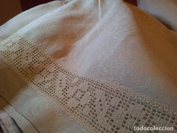 Antigüedades: colcha cubrecama damasco damasquinada brocado brocada 2,50 x 1,70---impecable !!!! - Foto 26 - 75975247