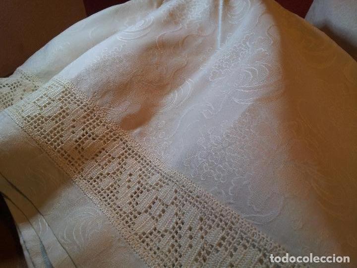 Antigüedades: colcha cubrecama damasco damasquinada brocado brocada 2,50 x 1,70---impecable !!!! - Foto 27 - 75975247