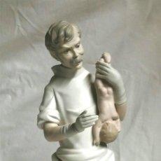Antigüedades: MEDICO COMADRON DE LLADRÓ REF. 14763, ESCULTOR SALVADOR FURIÓ AÑO 71, IMPECABLE. MED. 42 CM. Lote 75987515