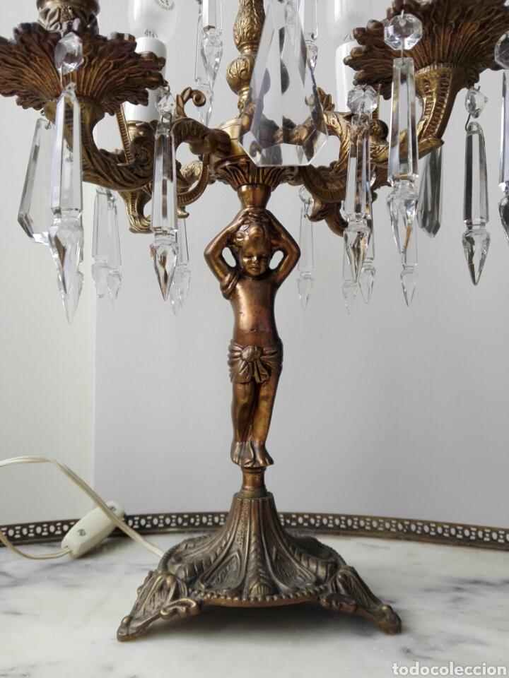 Antigüedades: Pareja de candelabros lámpara - Foto 4 - 75990178