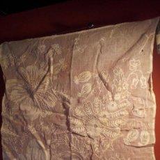 Antigüedades: ANTIGUO PAÑUELO DE TUL Y BORDADOS. Lote 76006155