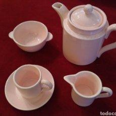 Antigüedades: JUEGO DE CAFÉ (JUGUETE) DE LOZA VIDRIADA DEL SIGLO XX. Lote 76006258