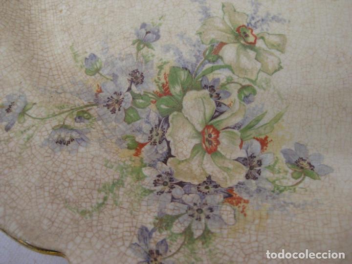 Antigüedades: INEDITAS! 3 BANDEJA PLATO ANTIGUO CERAMICA PICKMAN SEMI CHINA MEDALLA ORO CARTUJA - Foto 4 - 76025767