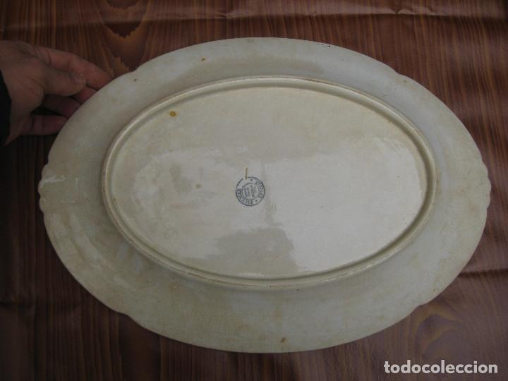 Antigüedades: INEDITAS! 3 BANDEJA PLATO ANTIGUO CERAMICA PICKMAN SEMI CHINA MEDALLA ORO CARTUJA - Foto 5 - 76025767