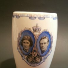 Antigüedades: VASO CORONATION ELIZABETH AND GEORGE V I -1937. Lote 76054111